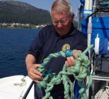 US SV Angel Louise - Picked up rope on props near Finisterre