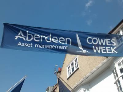 Boatshed at Cowes Week 2014
