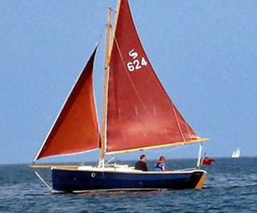 Traditional gaff rig sail boat for sale