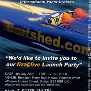 Boatshed Bristol Launch Party Invite