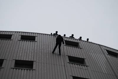Boatshed Babes Throw Themselves Off the Side of a Building