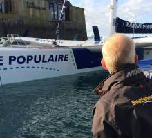 Loick Peyron Bank Populaire wins the Ultimate class Route Du Rhum