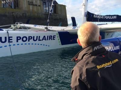 Loick Peyron Bank Populaire wins the Ultimate class Route Du Rhum
