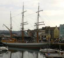 Tall Ship Kaskelot Visits Plymouth