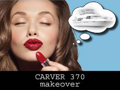 1998 Carver 370 Voyager - Gets A Makeover