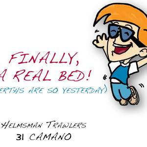 Helmsman 31 Camano – Finally, A Real Bed!