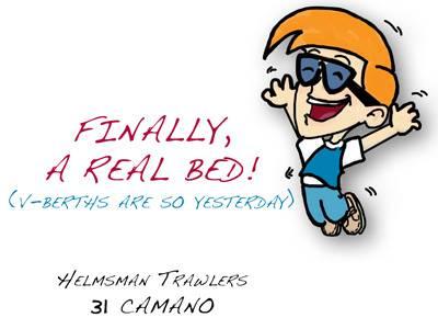 Helmsman 31 Camano – Finally, A Real Bed!