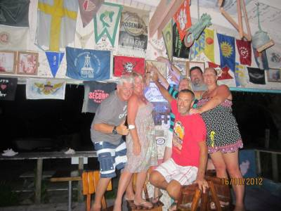 Sailing in the Caribbean – We scrawled on the wall!