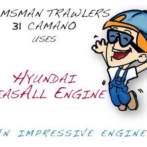 Helmsman Trawlers 31 Camano uses Hyundai SeasAll Engine
