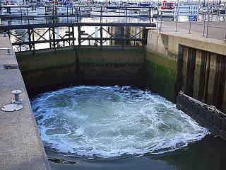 Shotley Marina Lock Gate Closure 2016