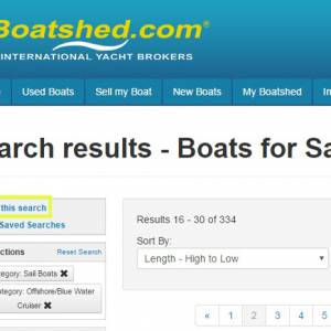 Boatshed.com New feature - Searching for your next boat..