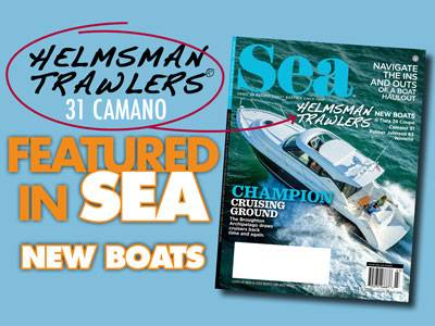 Helmsman Trawlers 31 Camano - Featured in SEA Magazine