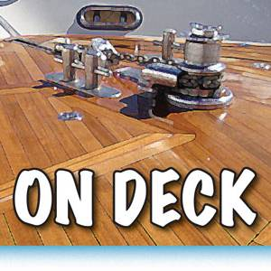 ON DECK at Waterline Boats - Grand Banks 32!