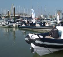 Motorboat and Rib show held at Premier Marinas Gosport