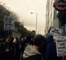 Canal Boaters Join 150,000 Protestors on the Streets of London