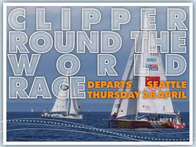CLIPPER ROUND THE WORLD RACE DEPARTS SEATTLE THURSDAY 28 APRIL