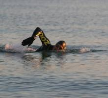 Rib X support Hampshire man's challenge to swim round the Isle of Wight for charity.