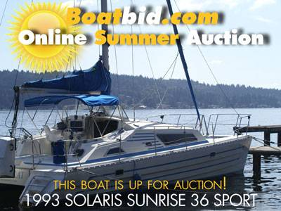 Solaris Sunrise 36 Sport Up For Auction!