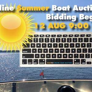 2016 Summer Boat Auction Begins 12 August!