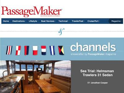 PassageMaker on the Helmsman Trawlers 31 Sedan!