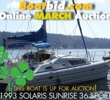 Solaris Sunrise 36 Sport In Boat Auction!