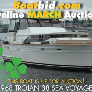 Trojan 38 Motoryacht In Boat Auction!