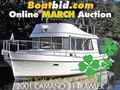 Camano 31 Trawler Troll In Boat Auction!