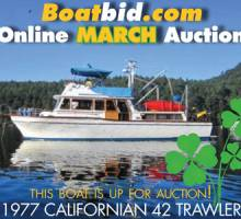 Californian 42 Trawler In Boat Auction!