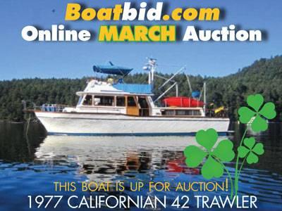 Californian 42 Trawler In Boat Auction!