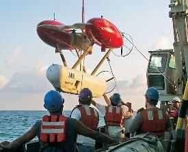 Underwater robot lost at sea