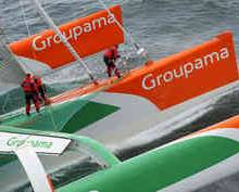 Groupama breaking even on Jules Verne Trophy sailing race