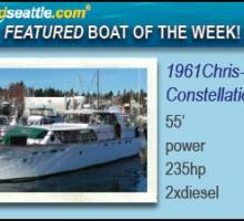 Boatshed Seattle International Yacht Brokers Featured Boat of the Week! Chris-Craft 55 Constellation