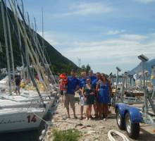 Boatshed Hamble sponsor a J80 at the European championships 2010 on Lake Garda.