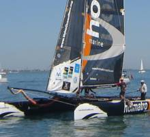 Holmatro takes line honours. Round the Island Race 2006