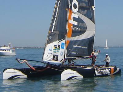 Holmatro takes line honours. Round the Island Race 2006