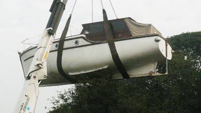 Boatshed Yorkshire's unusual boat delivery