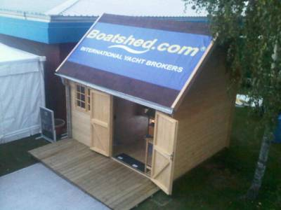 Southampton Boat Show - The Boatshed shed is now on site