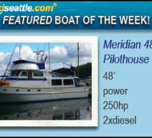 Featured Boat of the Week - Meridian 48 Pilothouse!