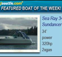 Boatshed Seattle Yacht Brokers  feature a Sea Ray 340 Sundancer