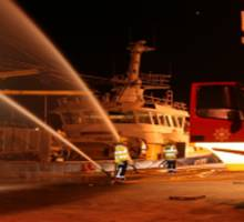 Northern Ireland Fire and Rescue Service training exercise at Bangor Marina