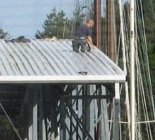 Dock roof work completes at Pleasant Harbor Marina