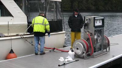 Come and visit Pleasant Harbor Marina fuel dock