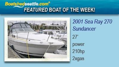 Sea Ray 270 Sundancer - Featured Boat of the Week!