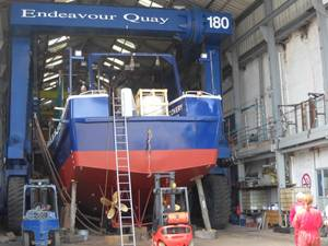 Endeavour is the Quay for the Survey fleet.