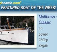 Featured Boat of the Week - Matthews 40 Sedan Classic Motor Yacht!