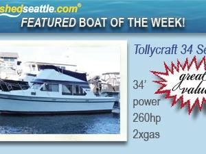 Featured Boat of the Week - Tollycraft 34 Sedan!