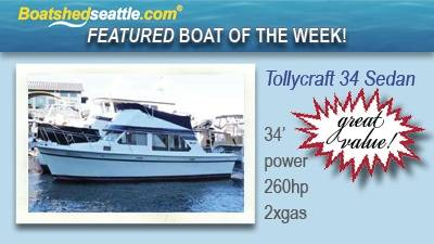 Featured Boat of the Week - Tollycraft 34 Sedan!
